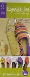Espadrilles Shoemaking Adult Size 9