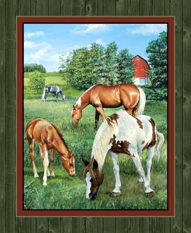 Springs Creative Wild Wings Valley Crest Horse Panel