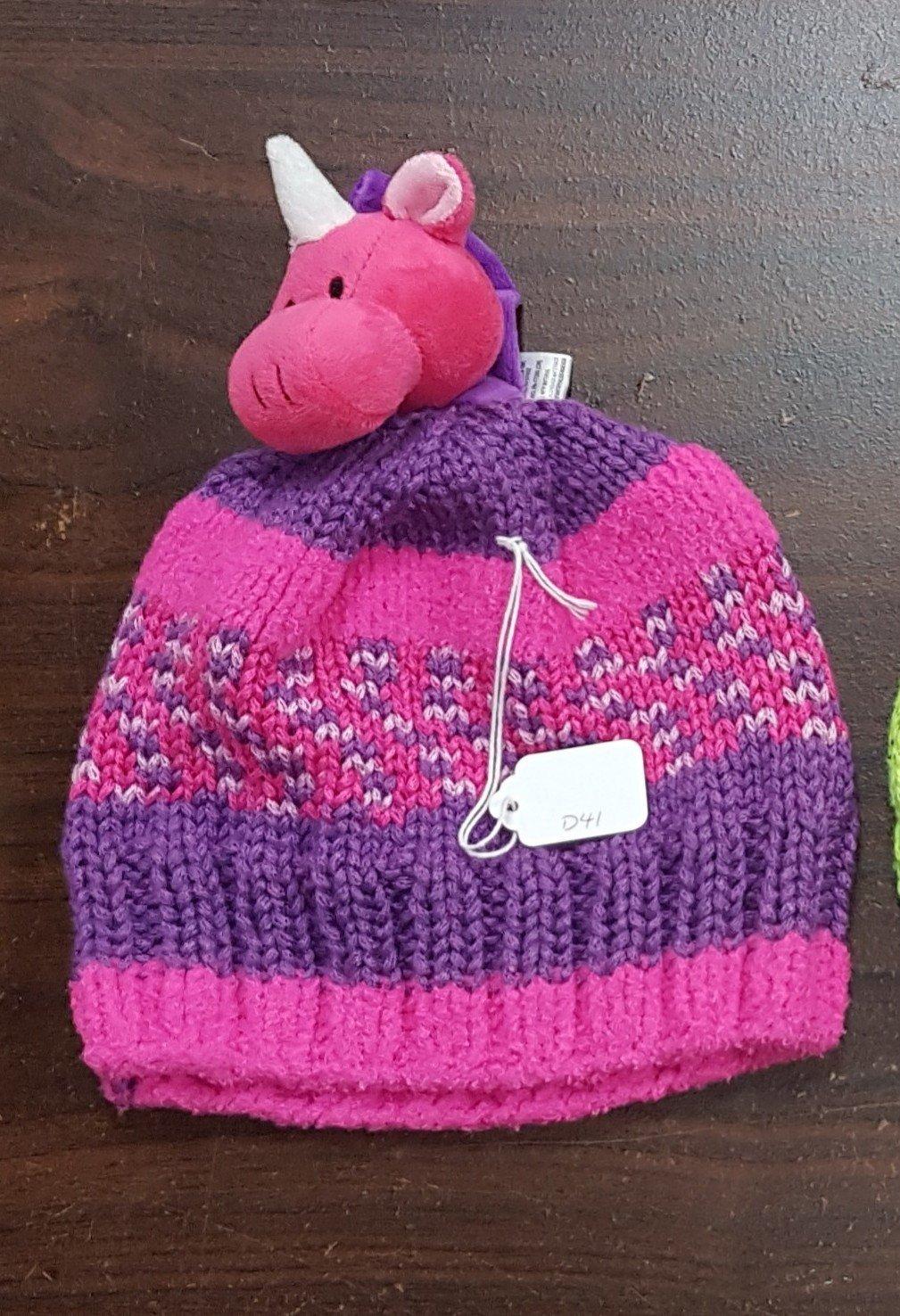 D dot delights Pink Unicorn Hat
