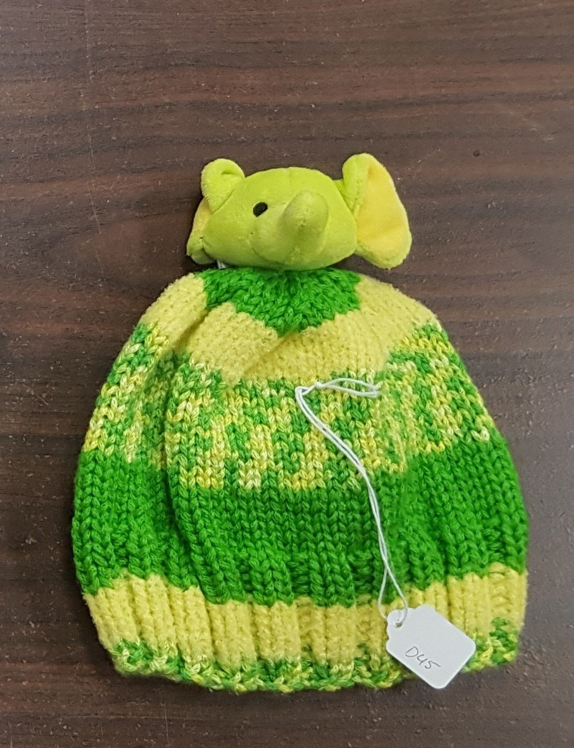 D dot delights Green Elephant Hat