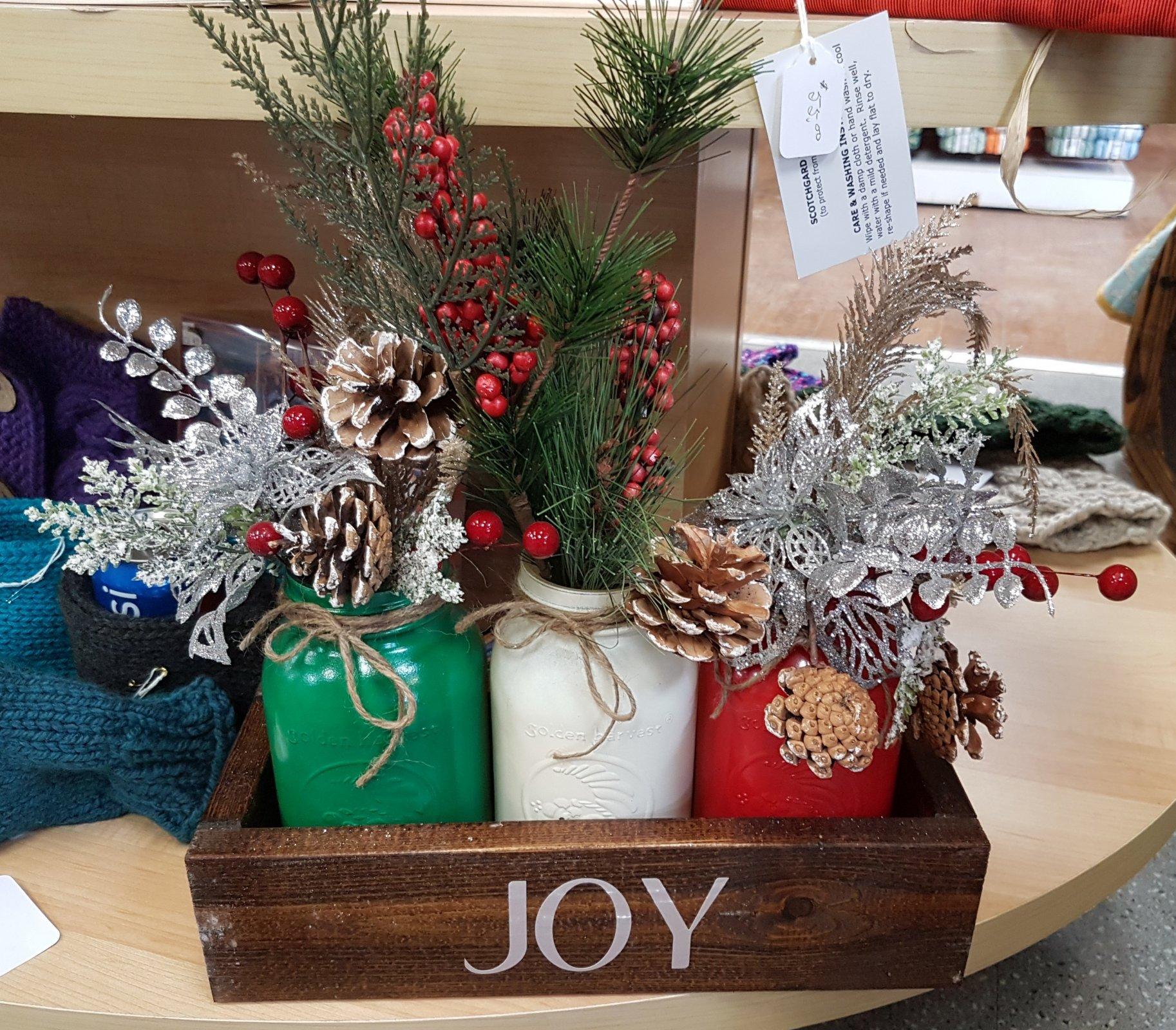 Christmas Table Centrepiece - Joy
