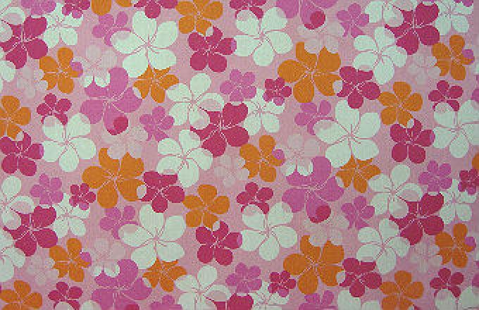 Colorful Plumeria Print - Pink