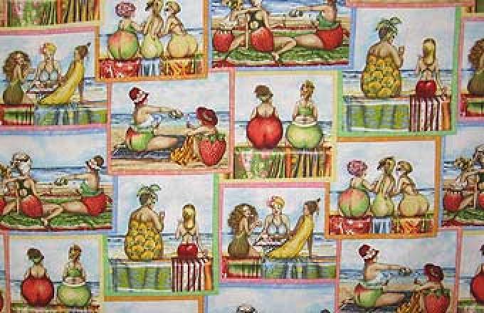 Fruit Ladies - Block Print