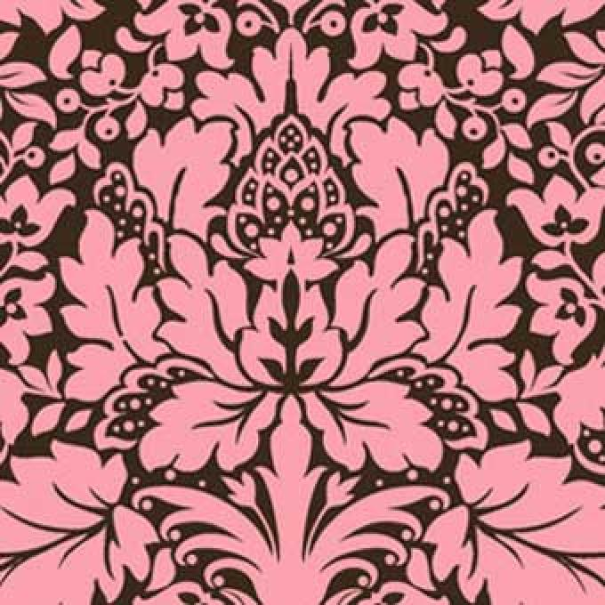 Bali Breeze Damask - Pink/Brown