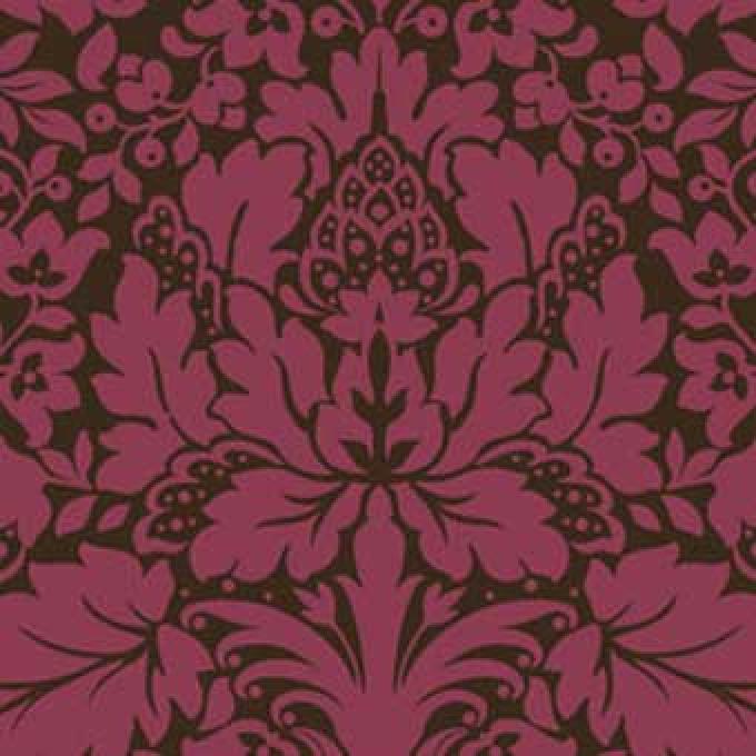 Bali Breeze Damask - Berry/Brown