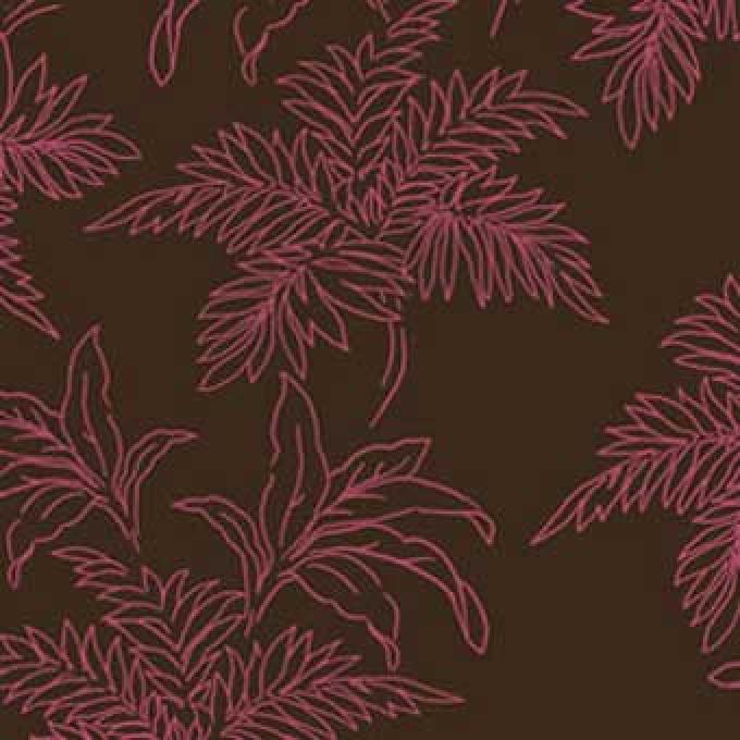 Bali Breeze Foliage - Pink/Brown