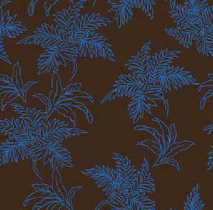 Bali Breeze Foliage - Blue/Brown