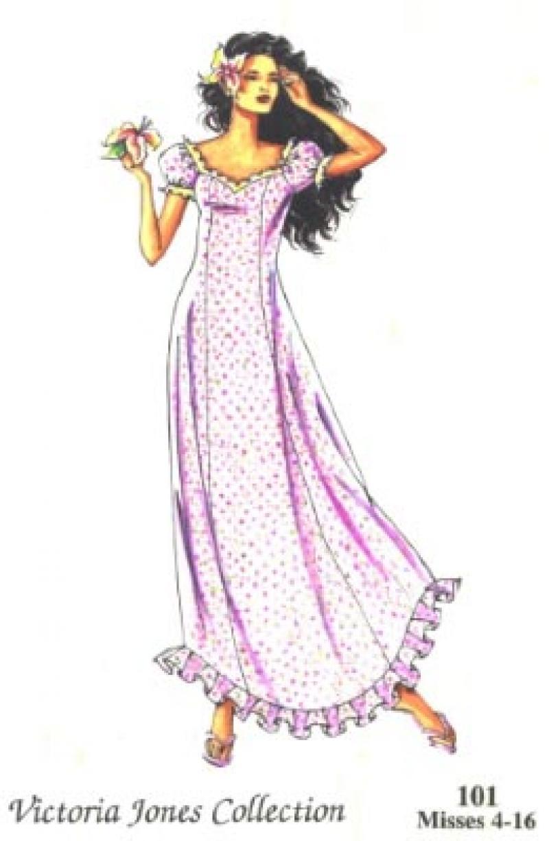 Fitted A-Line Muu Muu Dress Pattern
