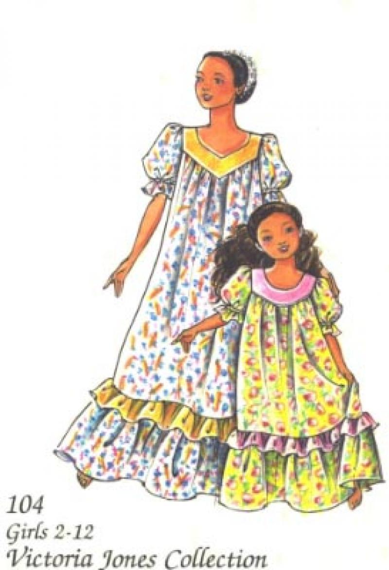 Girls' Muu Muu Dress Pattern