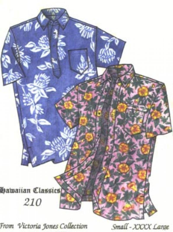 Mens' Aloha Shirt Pattern - Traditional