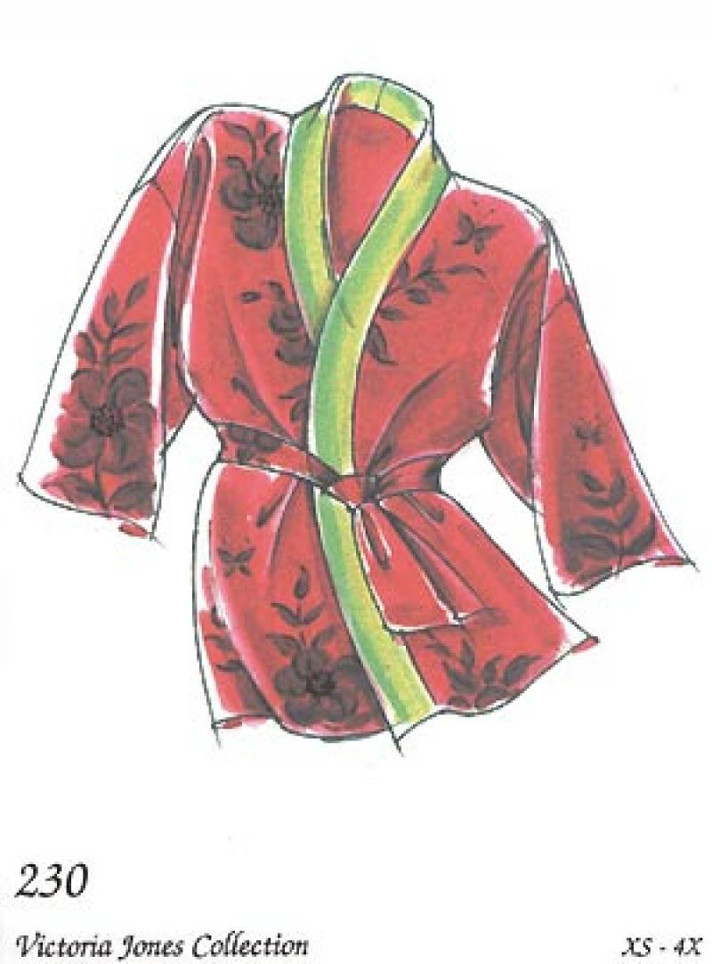 Happi Coat Oriental Pattern