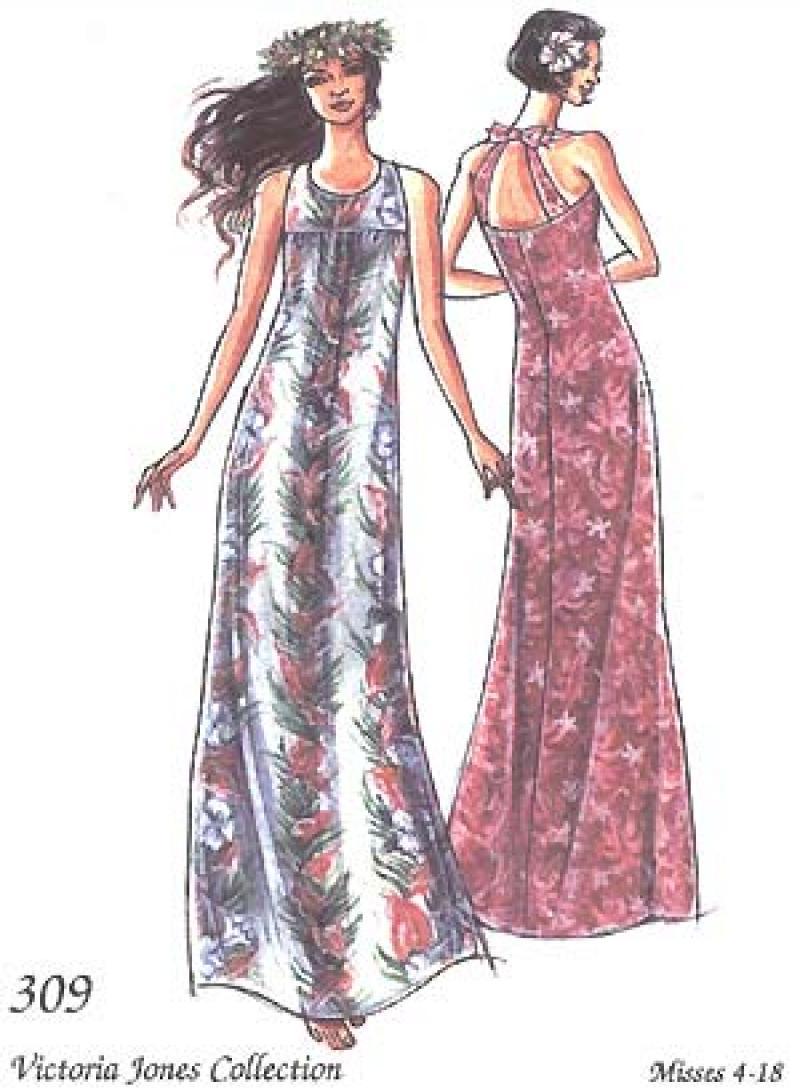 Fitted Muu Muu Dress Pattern
