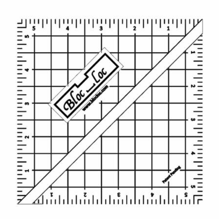 Bloc Loc Acrylic Half-Square Triangle Square Up Ruler 5.5x 5.5