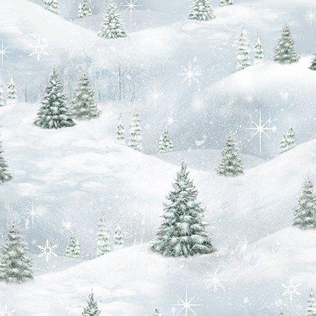 Pine Tree Scenic - Blue Frost