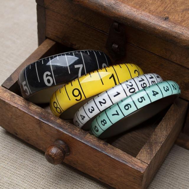 Bangle Tape Measure Aqua