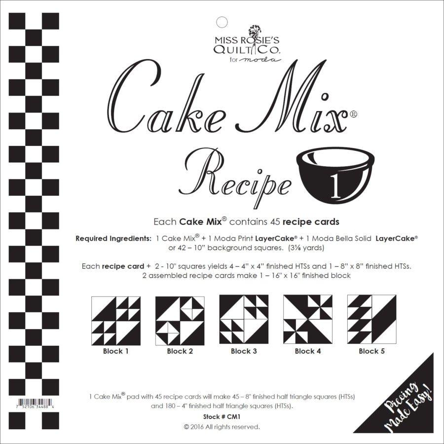 Cake Mix Recipe 1 45ct