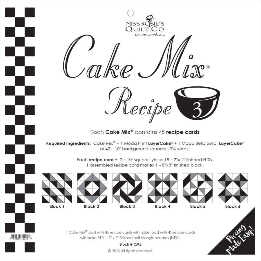 Cake Mix Recipe 3 45ct