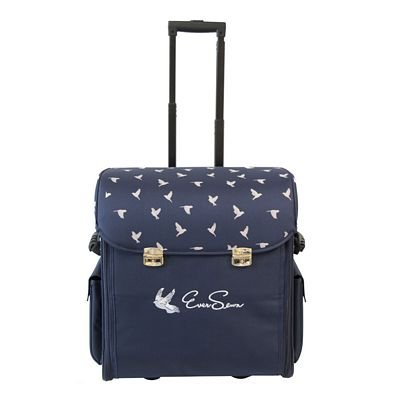 EverSewn Rolling Tote Bag - Blue