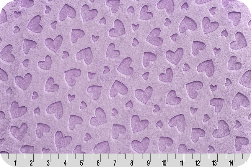 Embossed Heart Cuddle - Lilac