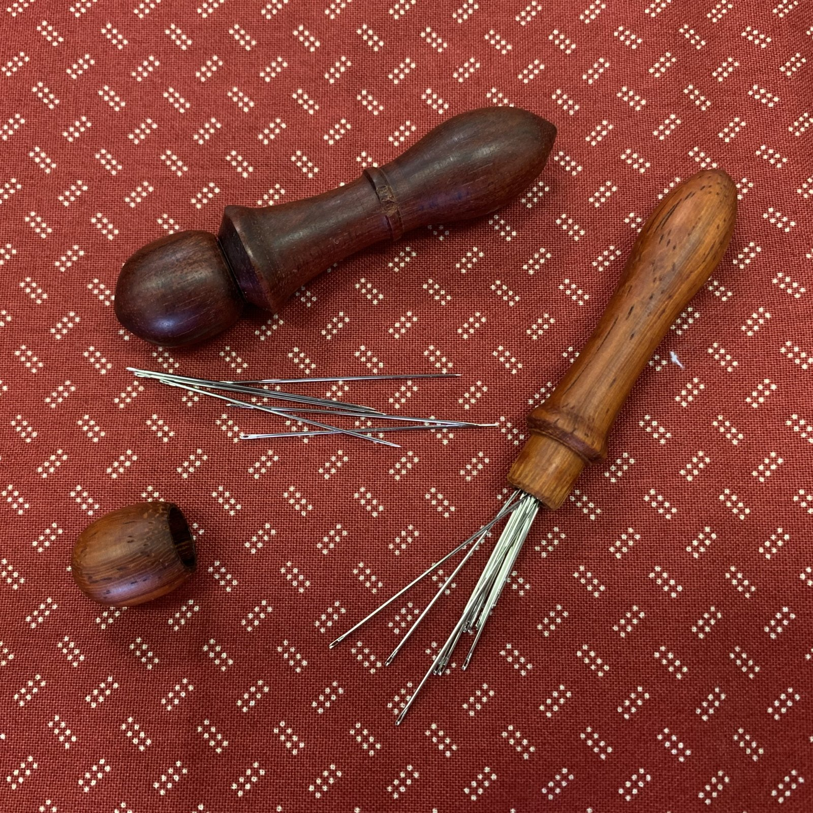 Wooden needle case