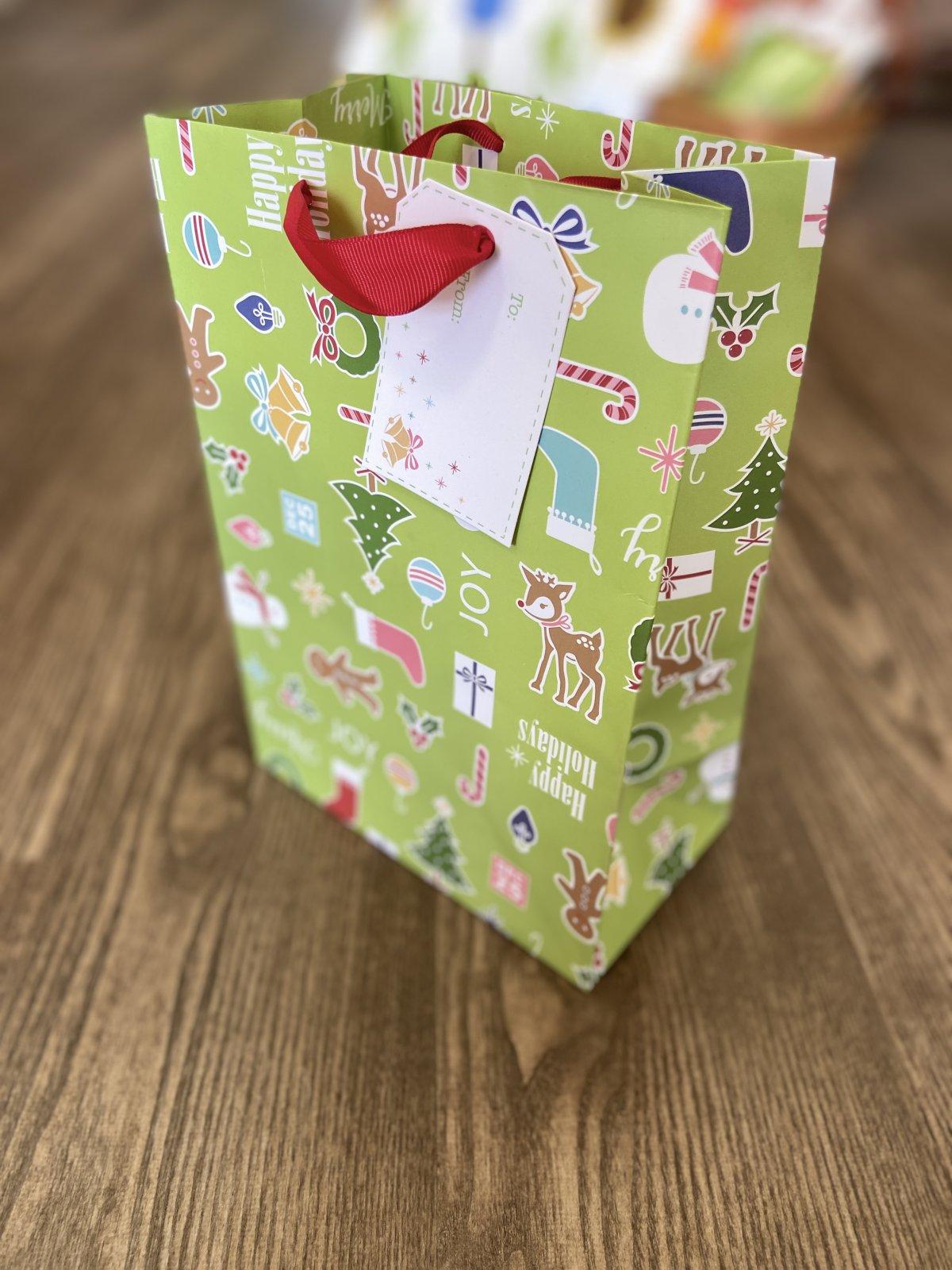 Lori Holt Gift Bag Christmas 10x7x4