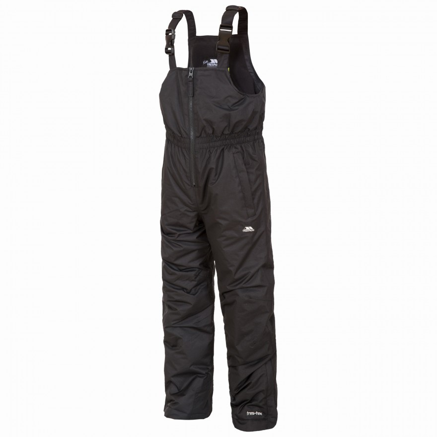 Trespass Kalmar Kids Ski Pant WP Bib Black