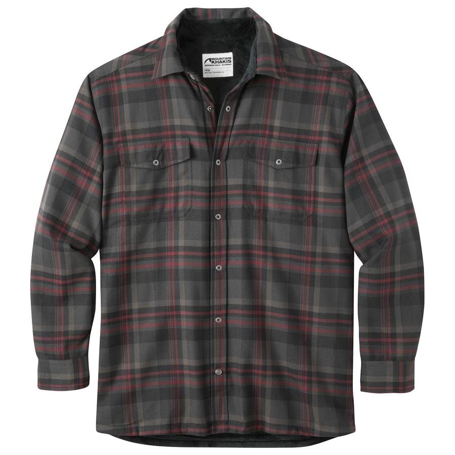 Mountain Khaki Mens Christopher Fleece Lined Shirt Jac