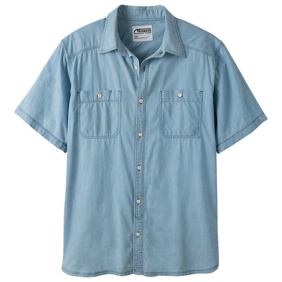 Mountain Khakis Men's Ace Indigo Short Sleeve Shirt