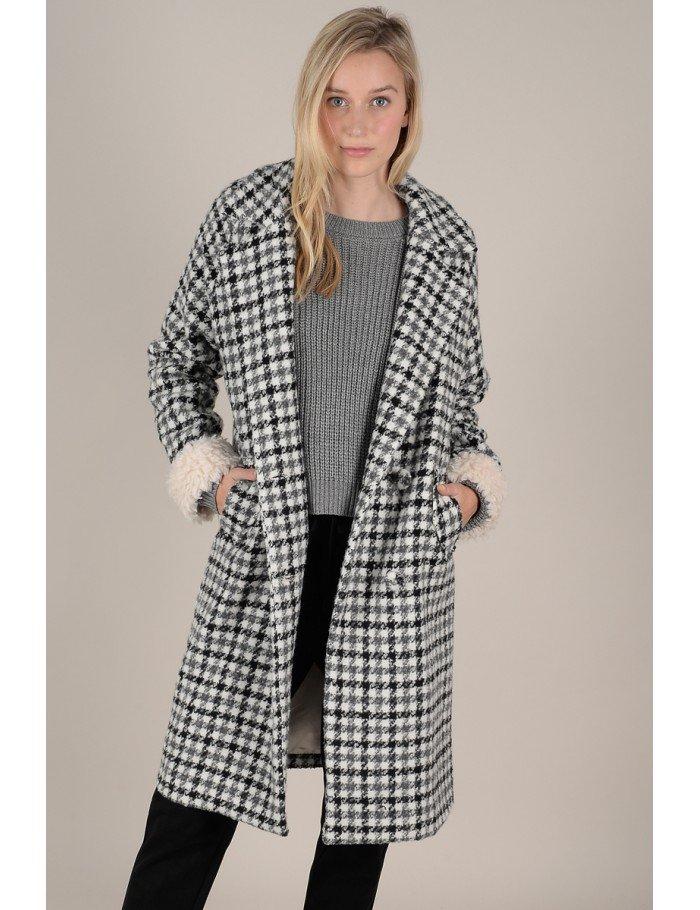 Molly Bracken check Mi-Length coat