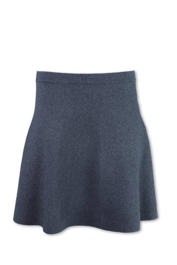 Purnell Womens Rib Knit Circle Skirt