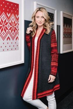 Icelandic Jewel Wrap Sweater
