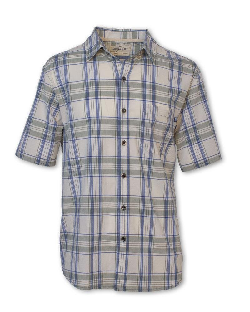 Purnell Men's Short-Sleeved Stretch Plaid