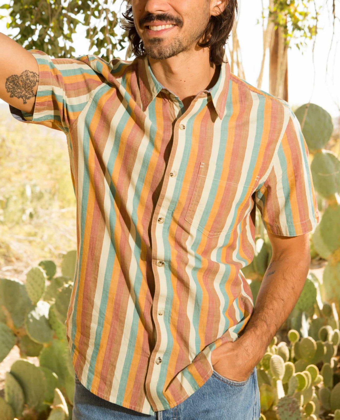 Toad & Co Men's Fletch SS Shirt Hydro Stripe