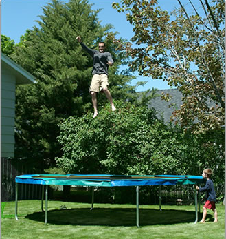 14' Trampoline Complete with Frame pad