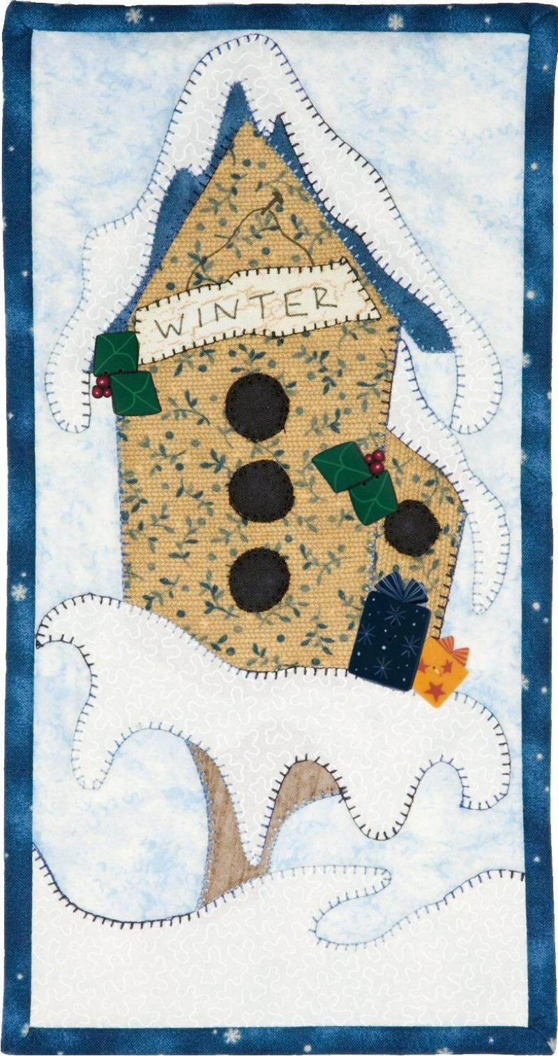 PATCH ABILITIES  WINTER WHIMSY BIRDHOUSE BUTTONS (MM14)