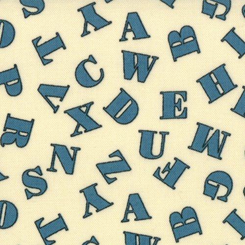 1930S ABC 123 BLUE LETTERS