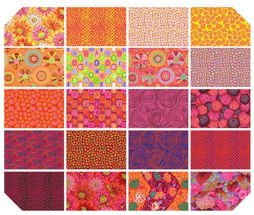 Kaffe Fassett Collective Spring 2019 - Bright - 6 Design Strip