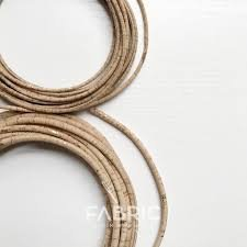 CORK - CORD 3MM NATURAL WITH GOLD