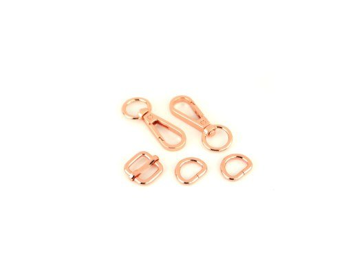 Hardware Kit for the Zippy Crossbody Bags -ROSE GOLD