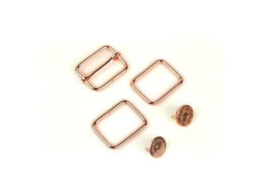 HARDWARE Kit FOR HOLLY HOBO BAG - ROSE GOLD (COPPER)