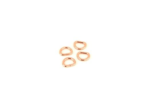HARDWARE - ROSE GOLD - D-RINGS 1/2INCH 4 CNT