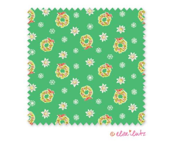 Little Joys Green Wreaths 3/8 yd