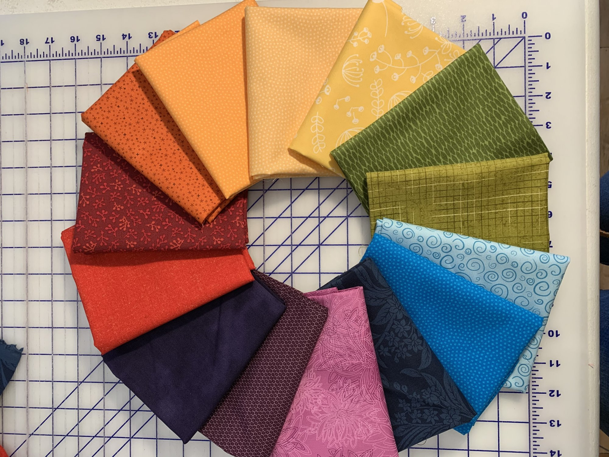 Color Wheel  10 Fat Quarter Bundle  #2
