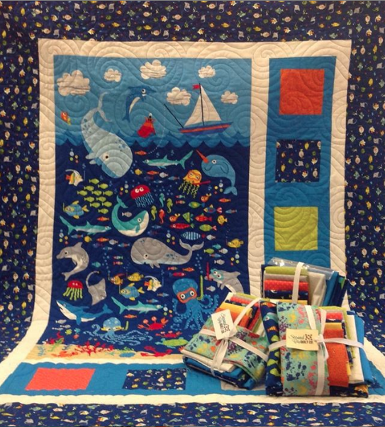 Ocean Kit includes fabric for top and binding.