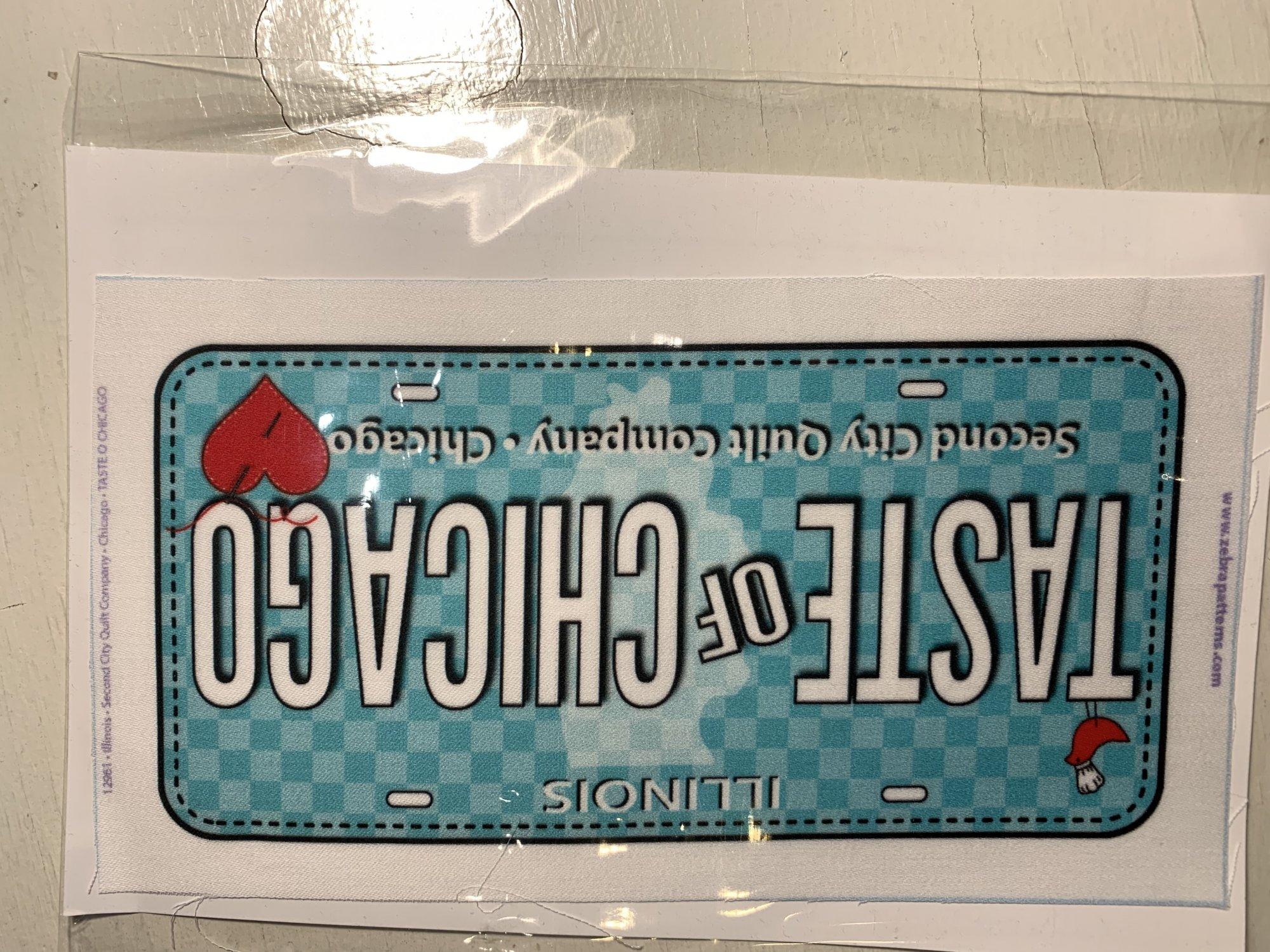 Taste of Chicago License Plate 2019