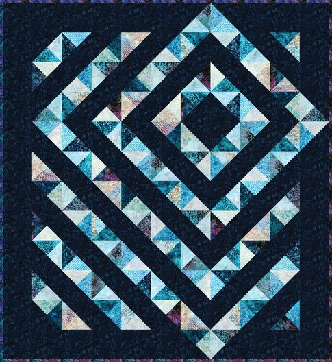 Four Patch Charm Quilt  64 x 69 1/2