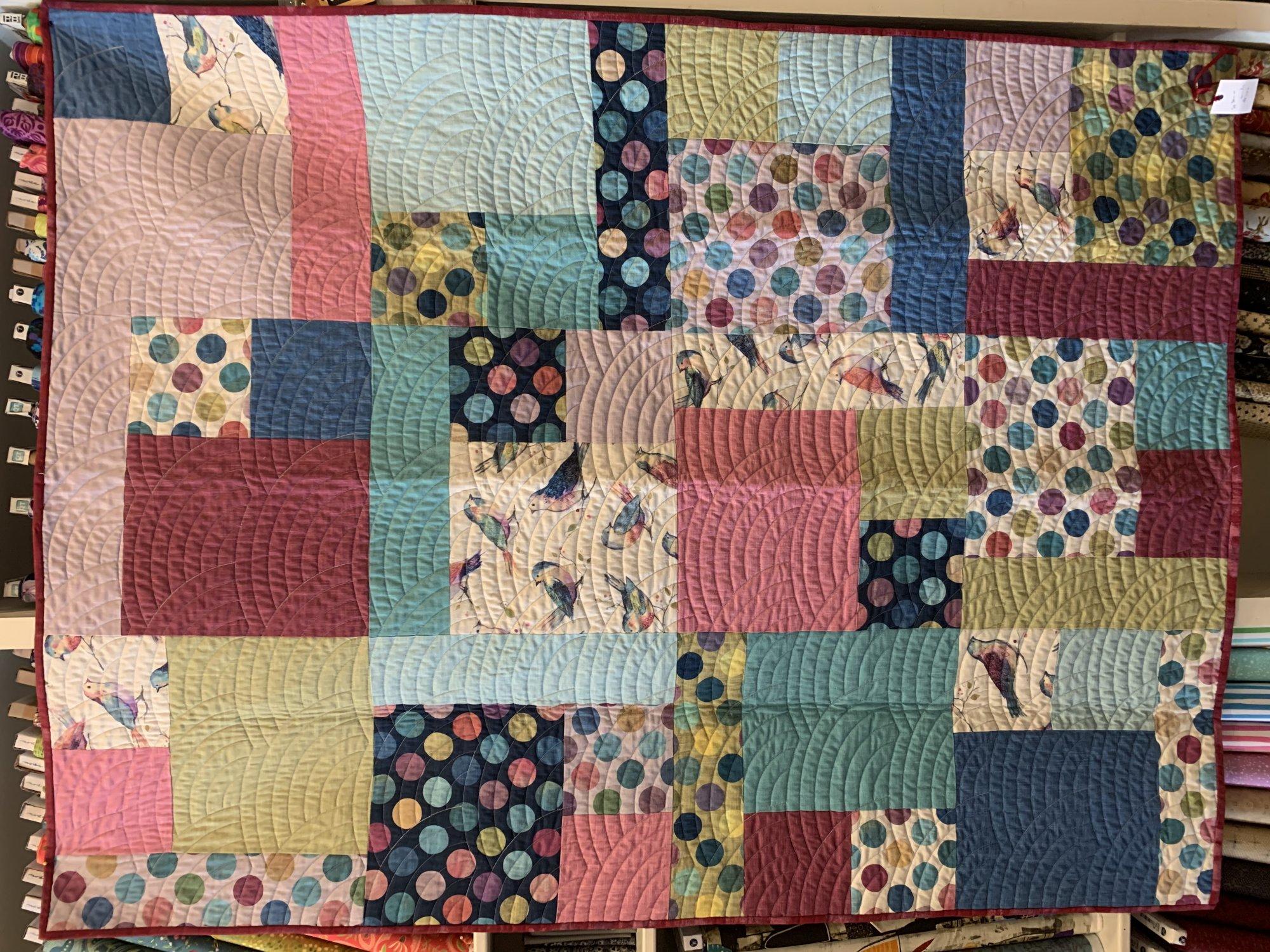 Quilt Sample - Birdie Square Dance