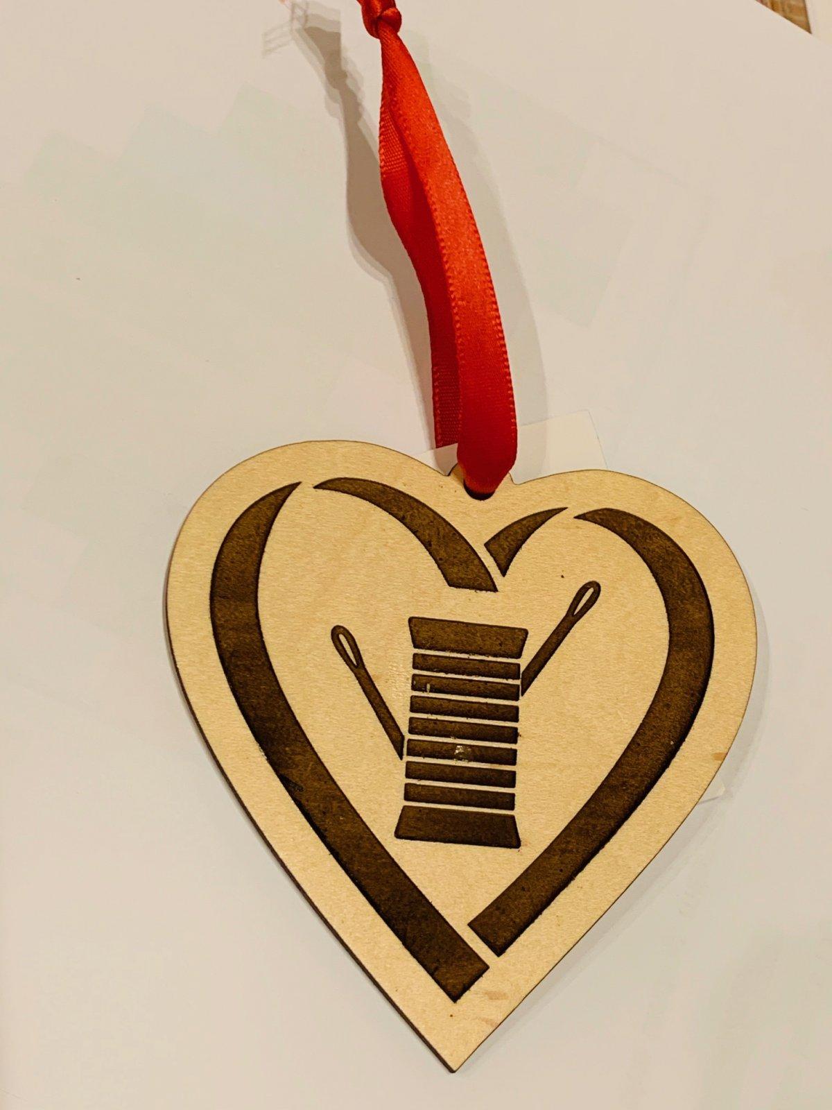 Heart Spool Ornament