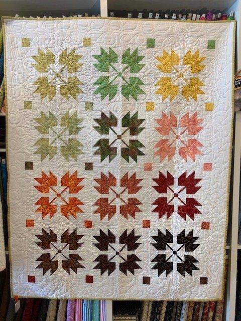 Quilt Sample - Leaves