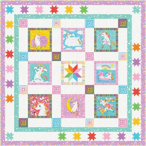Magical Unicorn Kit Dimensions: 63 1/2 x 63 1/2